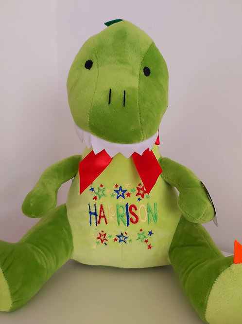 EMBROIDERED TUMMY DINOSAUR