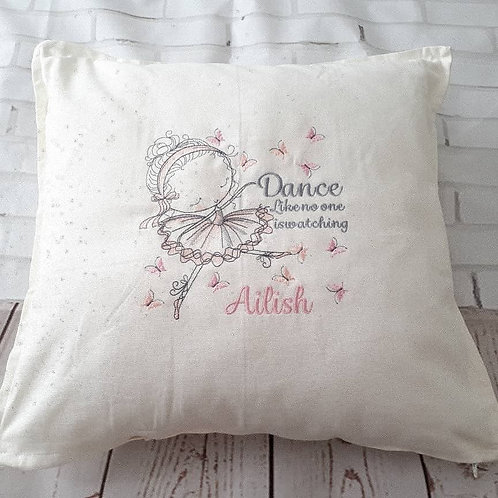 DANCE LIKE NO ONE IS WATCHING BALLERINA CUSHION COVER