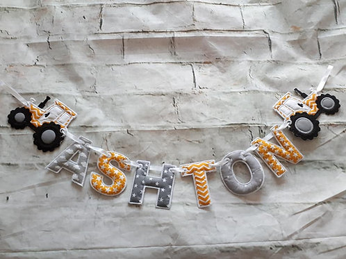 TRACTOR NAME BUNTING
