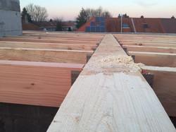 dakwerken school Gentbrugge - aanvang werken8