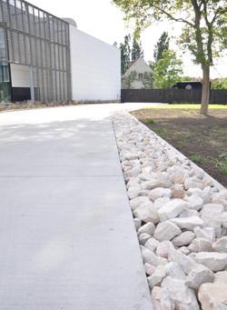 Waterven Heule Trappen Demunster - betonverharding en steenslag