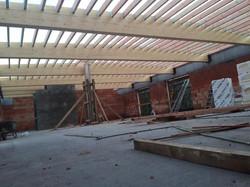 dakwerken school Gentbrugge - aanvang werken