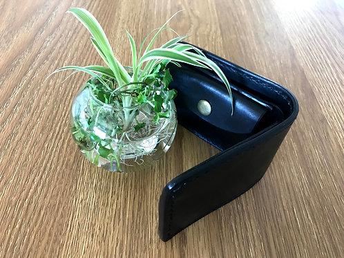 Plain Black bifold wallet, minimalist bifold wallet