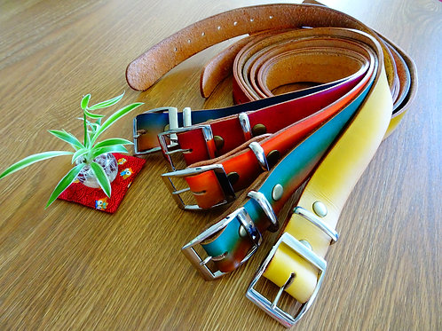Custom coloured belt, made to order,