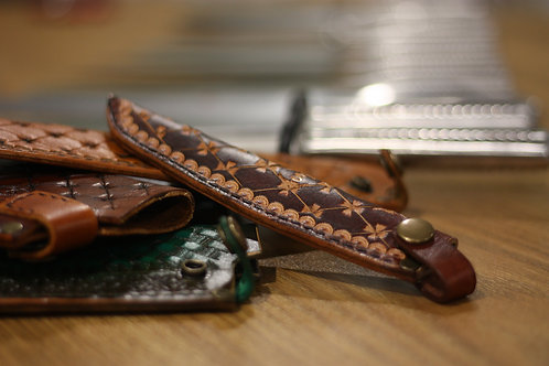 Custom made Japanese Saya, Leather sheath, 16-22cm