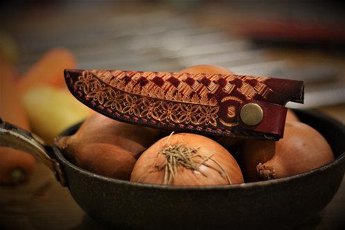 Custom made Japanese Saya, Leather sheath, 10-15cm