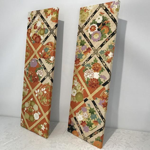 Kimono Wall panel decor, handmade