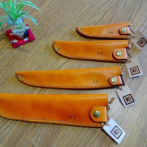 Custom made Japanese Saya, Leather sheath, Plain