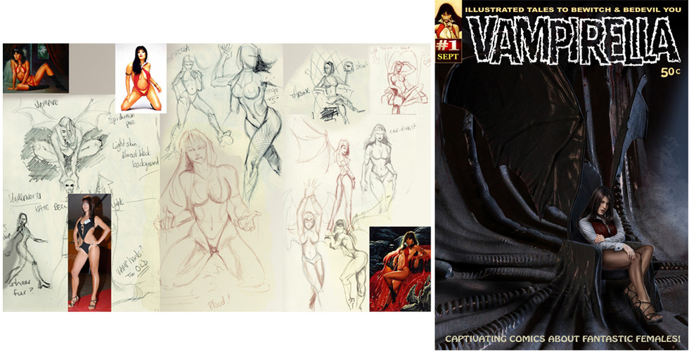 sketchbook grab - Vampirella