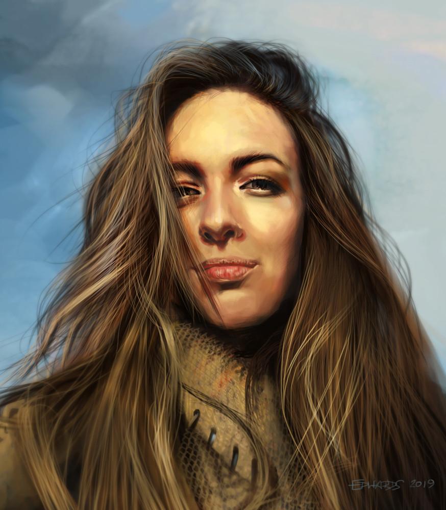 Study for hair and skin / Portrait of Viktoriia