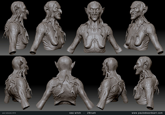 Meg sculpt
