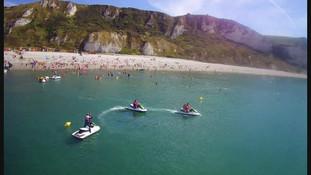 Initiation jet-ski plage de saint jouin bruneval