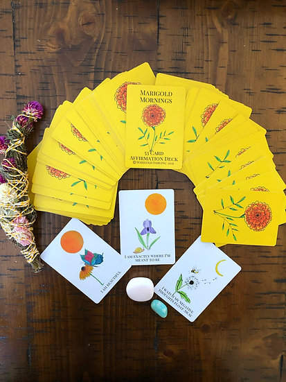 Marigold Mornings Affirmation Cards Poker(Small)