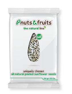 Natural peeld sunflower seeds 100 gr/3.5 Oz