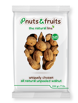 Natural unpeeled Walnut 200 gr/7 Oz