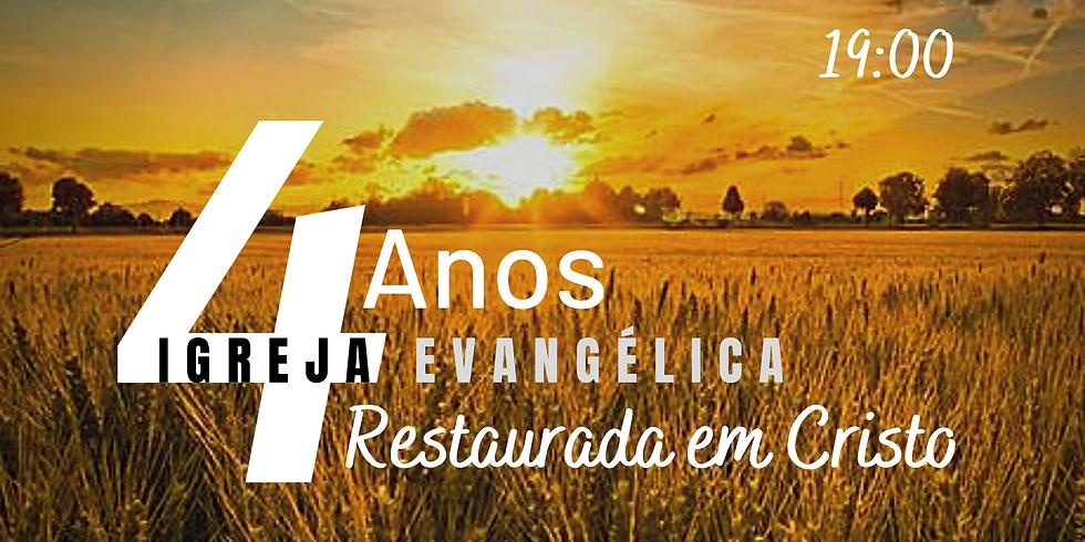 Culto celebração aniversário da Igreja (26 de Julho 2020)