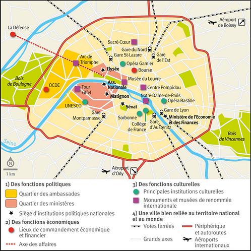 CAP - Thème 4  Géographie : Espaces Urbains : Paris ville mondiale