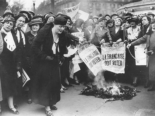 CAP - Thème 1 Histoire la France : LE DROIT DE VOTE DES FEMMES