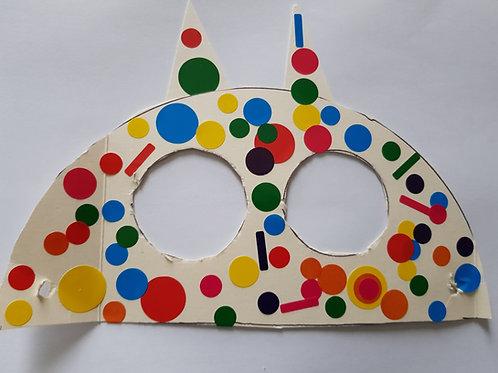 FICHE EP1 CAP AEPE Activité garde enfant à Dom masque de carnaval en gommettes