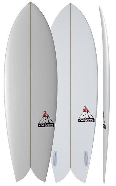 New Retro Fish Bali Custom Surfboards Bruce Hansel