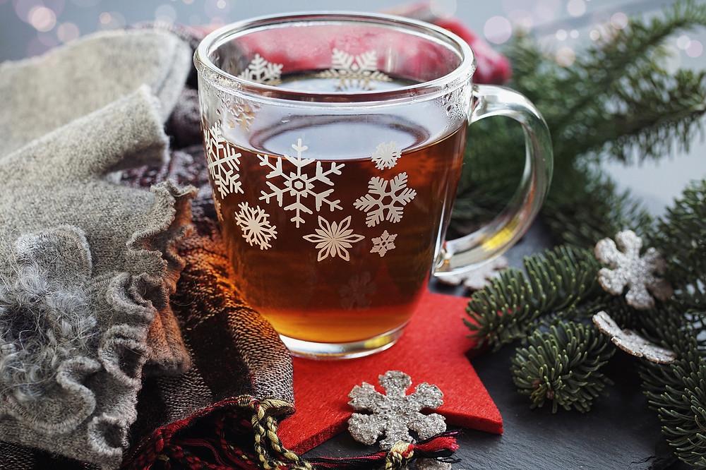 Die Chaga Brocken als Tee getrunken