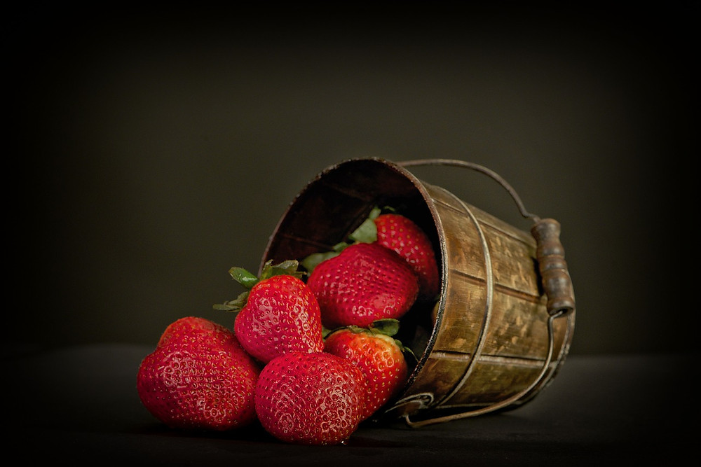 fruchtig, gesunde Erdbeeren in Bio Qualität