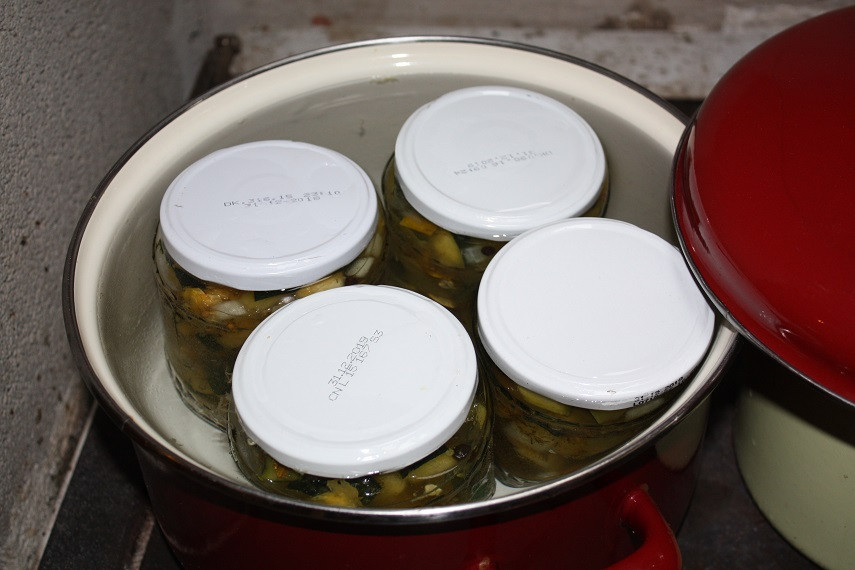 Zum sterilisieren im Topf kochen
