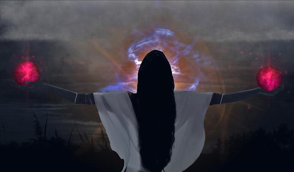 Die Lichtgöttin Brigid, die das Feuer aufweckt