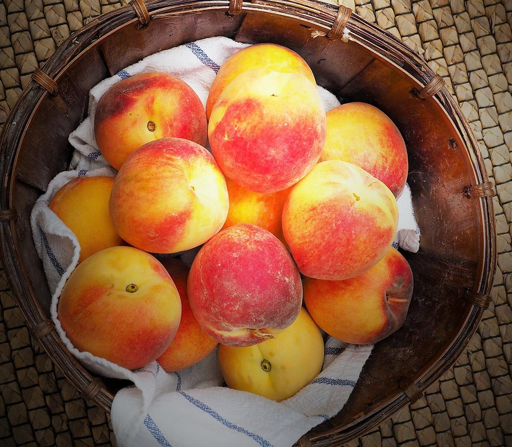 wohlschmeckende Pfirsiche