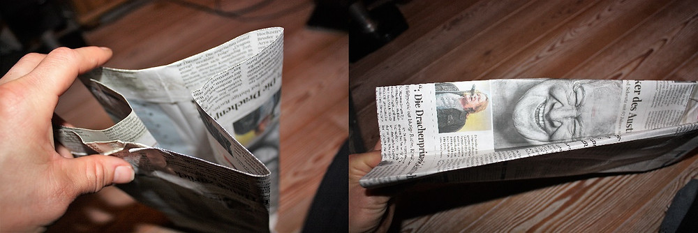Die Säckchen wollen auch geformt werden