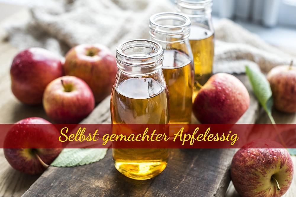 Apfelessig aus den Resten von Äpfeln