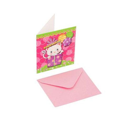 Kartolinë Mace 7.5X8.5cm Rozë