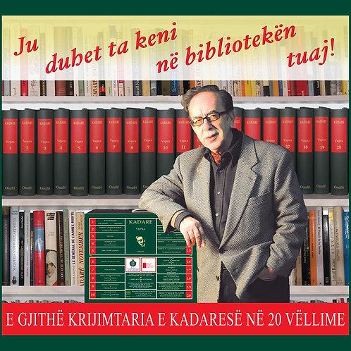 Vepra e plotë e Ismail Kadare në njëzet vëllime
