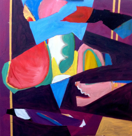 OIL ON CANVAS 102cmX102cm