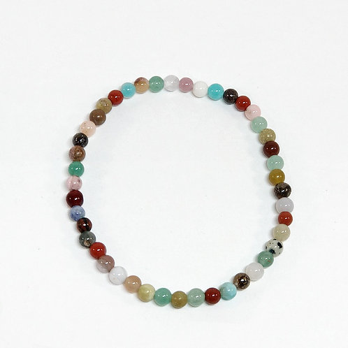 Mixed Stones 4mm Bracelet