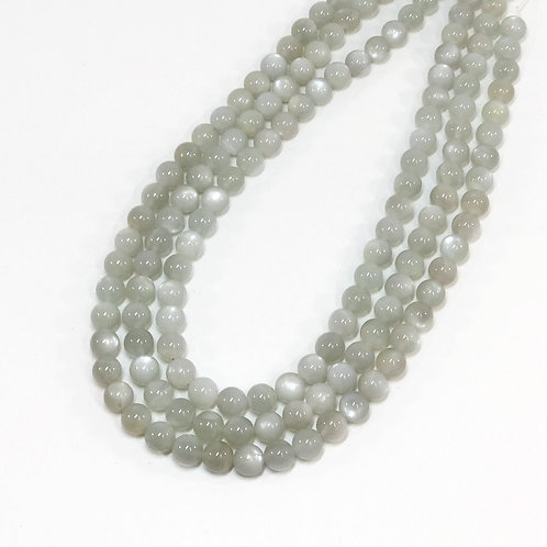 Light Grey Moon Stone 8mm