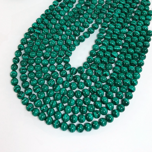 Malachite 8mm Round Beads 2A