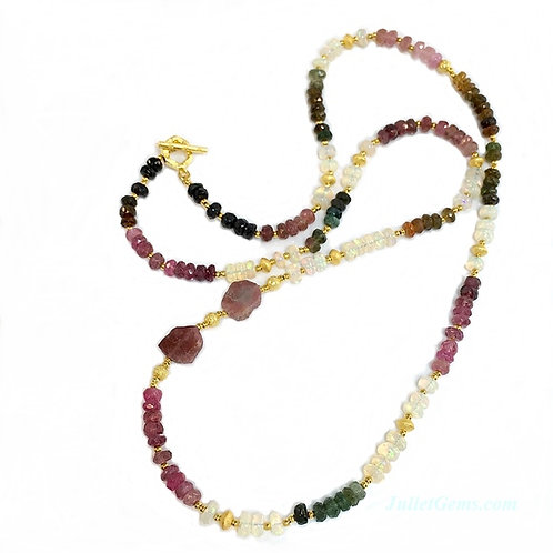Tourmaline Opal Necklace