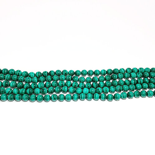 Malachite 12mm Round Beads 3A