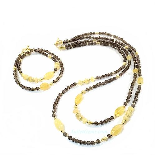 Amber Necklace & Bracelet