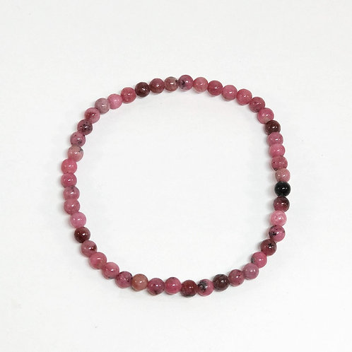 Rhodonite 4mm Bracelet