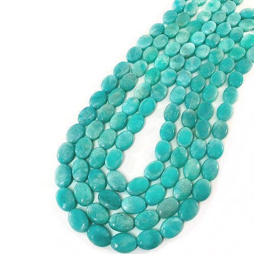 Amazonite Oval Beads 10x14mm 2A