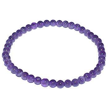 Amethyst 4mm Round Beads Bracelet