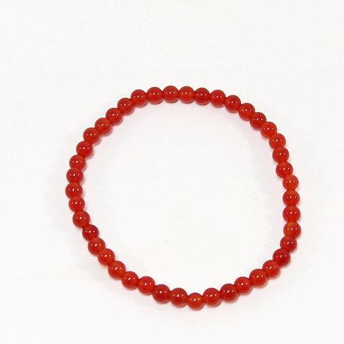 Carnelian 4mm Bracelet