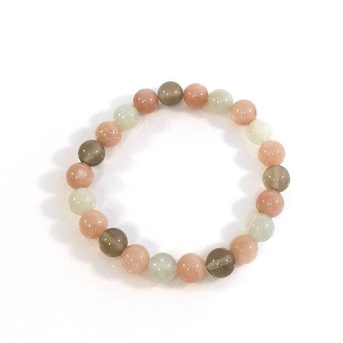 Mixed Moon Stones 8mm Bracelet