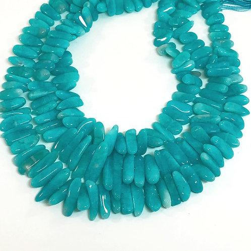 Amazonite Flat Tumble Beads 3A