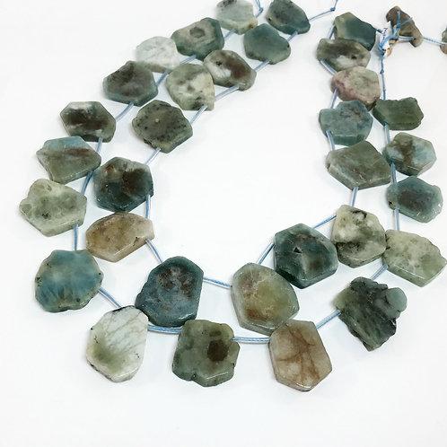 Aquamarine Flat Pebbles