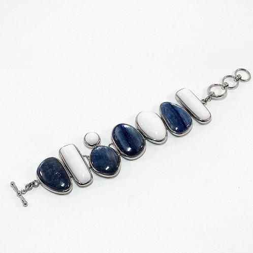 Kyanite White Onyx Bracelet