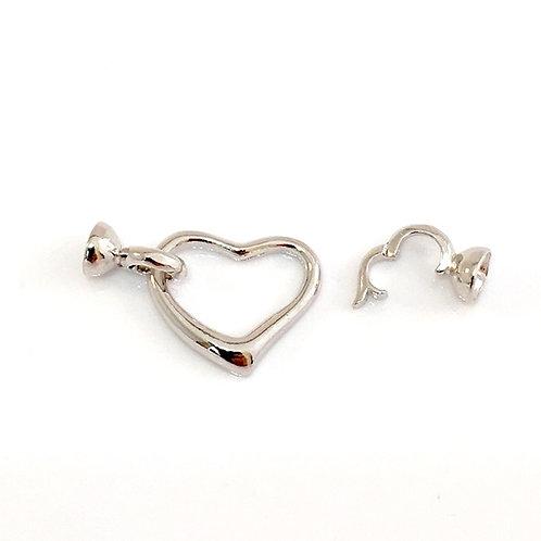 Silver Heart Clasp