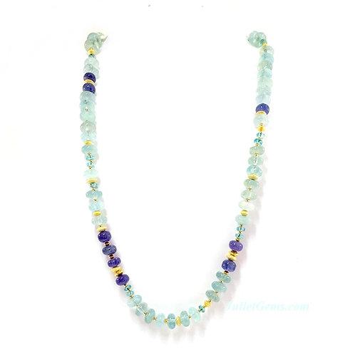 Aquamarine Tanzanite Necklace